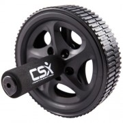 CSX-Ab-Roller-Wheel-with-Extra-Thick-Knee-Pad-Mat-and-Comfort-Foam-Handles-Black-Dual-Double-Pro-Abdominal-Exercise-Wheel-Best-Fitness-Workout-for-Abs-0