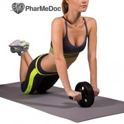 PharMeDoc-Ab-Roller-The-Ultimate-Fitness-Equipment-for-Abs-Home-Gym-with-Reinforced-Steel-Handle-for-Fitness-Training-Home-Gym-and-Burn-Belly-Fat-Fast-0-0