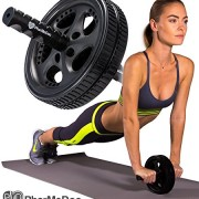 PharMeDoc-Ab-Roller-The-Ultimate-Fitness-Equipment-for-Abs-Home-Gym-with-Reinforced-Steel-Handle-for-Fitness-Training-Home-Gym-and-Burn-Belly-Fat-Fast-0